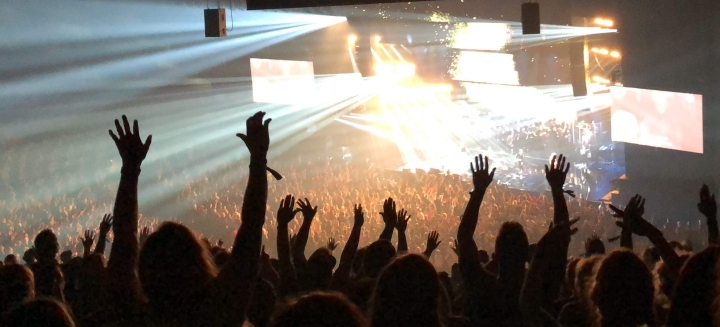 Worship with Hands Raised